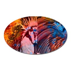 Astral Dreamtime Magnet (oval) by icarusismartdesigns