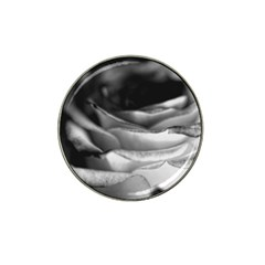 Light Black And White Rose Golf Ball Marker (for Hat Clip) by bloomingvinedesign