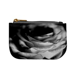 Light Black And White Rose Coin Change Purse by bloomingvinedesign