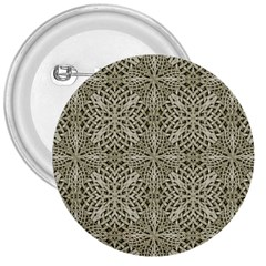 Silver Intricate Arabesque Pattern 3  Button by dflcprints