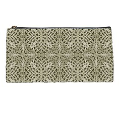 Silver Intricate Arabesque Pattern Pencil Case by dflcprints