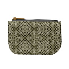 Silver Intricate Arabesque Pattern Coin Change Purse by dflcprints