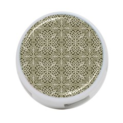 Silver Intricate Arabesque Pattern 4-Port USB Hub (Two Sides) by dflcprints