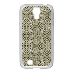 Silver Intricate Arabesque Pattern Samsung Galaxy S4 I9500/ I9505 Case (white) by dflcprints