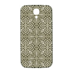 Silver Intricate Arabesque Pattern Samsung Galaxy S4 I9500/i9505  Hardshell Back Case by dflcprints