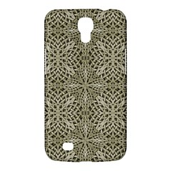 Silver Intricate Arabesque Pattern Samsung Galaxy Mega 6 3  I9200 Hardshell Case by dflcprints