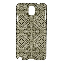 Silver Intricate Arabesque Pattern Samsung Galaxy Note 3 N9005 Hardshell Case by dflcprints