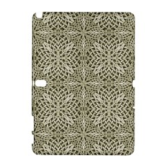 Silver Intricate Arabesque Pattern Samsung Galaxy Note 10 1 (p600) Hardshell Case by dflcprints
