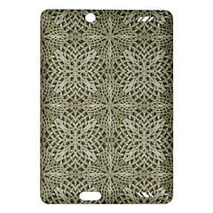 Silver Intricate Arabesque Pattern Kindle Fire Hd (2013) Hardshell Case by dflcprints