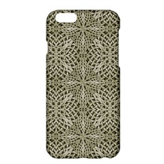 Silver Intricate Arabesque Pattern Apple Iphone 6 Plus Hardshell Case by dflcprints