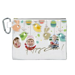 Easter By Easter   Canvas Cosmetic Bag (large)   J3az2n7k9mbo   Www Artscow Com Front