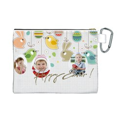 Easter By Easter   Canvas Cosmetic Bag (large)   J3az2n7k9mbo   Www Artscow Com Back