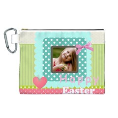 Easter By Easter   Canvas Cosmetic Bag (large)   Ls62eyajg0n2   Www Artscow Com Front