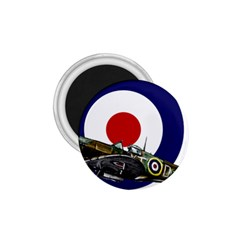 Spitfire And Roundel 1 75  Button Magnet by TheManCave
