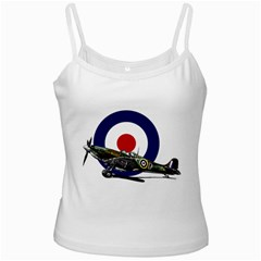 Spitfire And Roundel White Spaghetti Tank by TheManCave