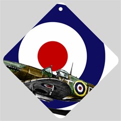 Spitfire And Roundel Car Window Sign by TheManCave