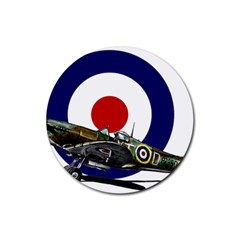 Spitfire And Roundel Drink Coaster (Round) by TheManCave