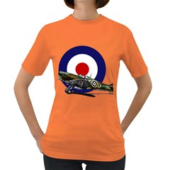 Spitfire And Roundel Women s T-shirt (Colored) by TheManCave