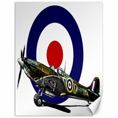 Spitfire And Roundel Canvas 12  x 16  (Unframed) by TheManCave