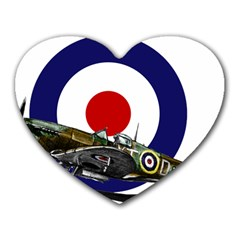 Spitfire And Roundel Mouse Pad (Heart) by TheManCave