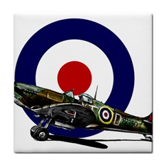 Spitfire And Roundel Face Towel by TheManCave