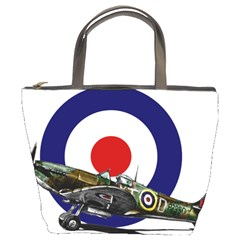 Spitfire And Roundel Bucket Handbag by TheManCave