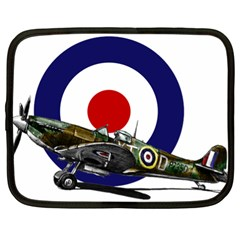 Spitfire And Roundel Netbook Sleeve (XL) by TheManCave