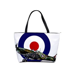 Spitfire And Roundel Large Shoulder Bag by TheManCave