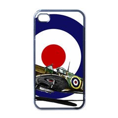 Spitfire And Roundel Apple iPhone 4 Case (Black) by TheManCave