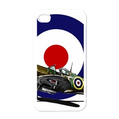 Spitfire And Roundel Apple iPhone 4 Case (White) by TheManCave