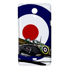 Spitfire And Roundel Sony Xperia T Hardshell Case  by TheManCave
