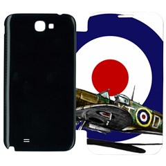 Spitfire And Roundel Samsung Galaxy Note 2 Flip Cover Case by TheManCave