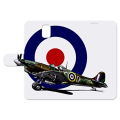 Spitfire And Roundel Samsung Galaxy Note 3 Leather Folio Case by TheManCave