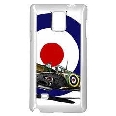 Spitfire And Roundel Samsung Galaxy Note 4 Case (White) by TheManCave