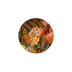 Autumn Golf Ball Marker by icarusismartdesigns