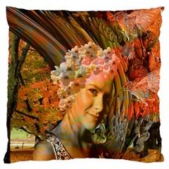 Autumn Large Cushion Case (single Sided)  by icarusismartdesigns