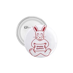 Cute Bunny Happy Easter Drawing I 1 75  Button by dflcprints