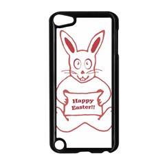 Cute Bunny Happy Easter Drawing I Apple Ipod Touch 5 Case (black) by dflcprints
