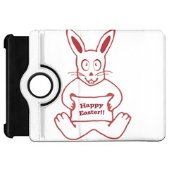 Cute Bunny Happy Easter Drawing I Kindle Fire Hd Flip 360 Case by dflcprints