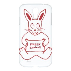 Cute Bunny Happy Easter Drawing I Samsung Galaxy S4 I9500/i9505 Hardshell Case by dflcprints