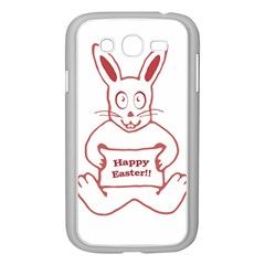 Cute Bunny Happy Easter Drawing I Samsung Galaxy Grand Duos I9082 Case (white) by dflcprints