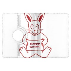 Cute Bunny Happy Easter Drawing I Kindle Fire Hdx Flip 360 Case by dflcprints