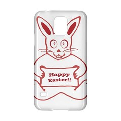 Cute Bunny Happy Easter Drawing I Samsung Galaxy S5 Hardshell Case  by dflcprints