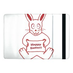 Cute Bunny Happy Easter Drawing I Samsung Galaxy Tab Pro 10 1  Flip Case by dflcprints
