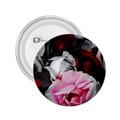 Black And White Roses 2 25  Button by bloomingvinedesign