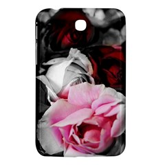 Black and White Roses Samsung Galaxy Tab 3 (7 ) P3200 Hardshell Case  by bloomingvinedesign