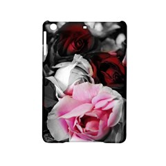 Black And White Roses Apple Ipad Mini 2 Hardshell Case by bloomingvinedesign
