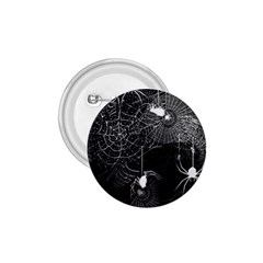 Black And White Spider Webs 1 75  Button by bloomingvinedesign