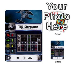 X Wing Maneuver Cards Wave 4 6 By Matt   Multi Purpose Cards (rectangle)   Ejgchyss53zm   Www Artscow Com Front 1