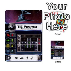 X Wing Maneuver Cards Wave 4 6 By Matt   Multi Purpose Cards (rectangle)   Ejgchyss53zm   Www Artscow Com Front 6